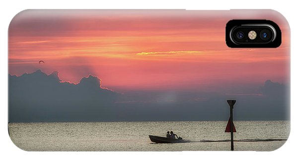 IPhone Case featuring the photograph Silhouette's Sailing Into Sunset by Nathan Bush