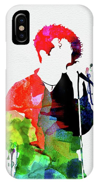 Red Rock iPhone X Case - Simply Red Watercolor by Naxart Studio