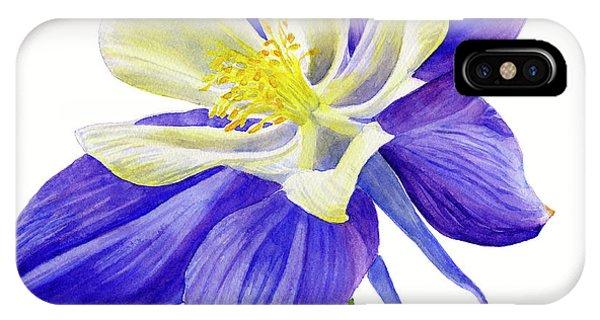 Wild Violet iPhone Case - Single Blue Columbine by Sharon Freeman