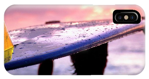Head And Shoulders iPhone Case - Single Fin Surfer - Square Format by Sean Davey