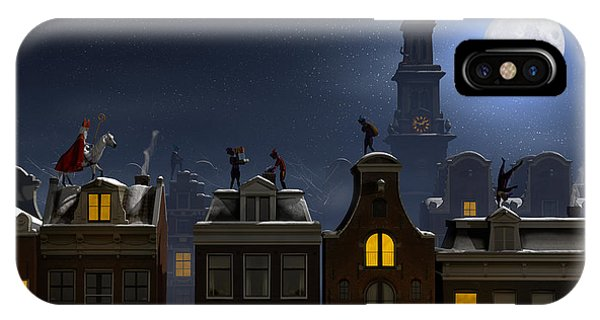 Present iPhone Case - Sinterklaas And The Pieten On The by Sara Winter