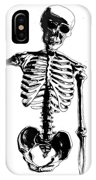 Bone iPhone Case - Skeleton Study by Irina Sztukowski