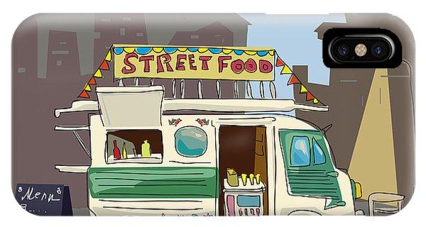 Sketch Car Street Food, City, Cartoon Phone Case by Valeri Hadeev