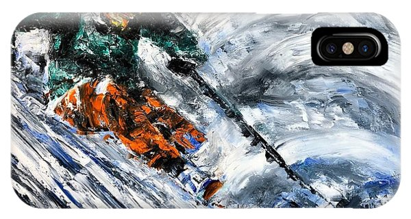 Ski Contemporary Fine Art IPhone Case