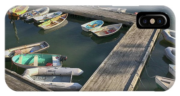 Skiffs In Rockland Harbor IPhone Case