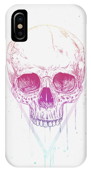 Triangles iPhone Case - Skull In Triangle by Balazs Solti