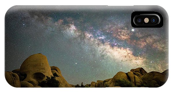 Astro iPhone Case - Skull Rock And Milky Way by Davorin Mance