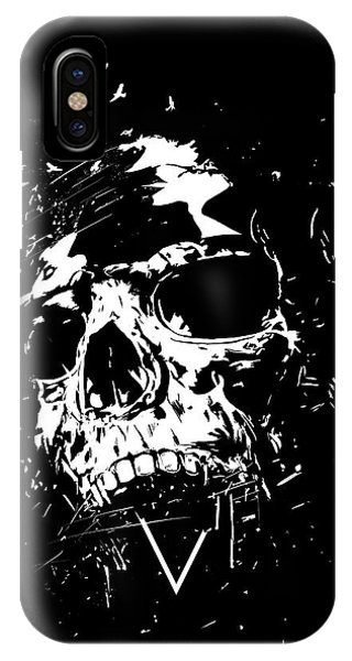 Triangles iPhone Case - Skull X II by Balazs Solti