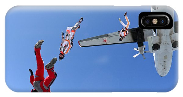 Hobby iPhone Case - Skydiving Photo by Germanskydiver