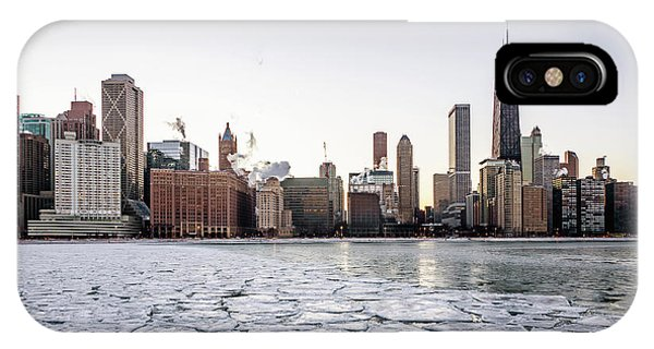 Skyline And Cracks In The Water IPhone Case