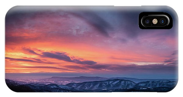 Skyline Drive Sunset IPhone Case