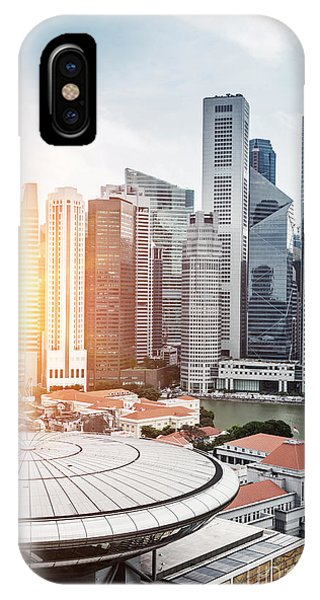 Office Buildings iPhone Case - Skyline Of Singapore Business District by Zhu Difeng