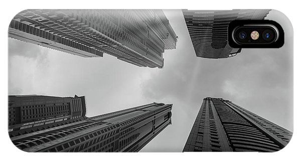 Skyscrapers Reach The Heaven IPhone Case