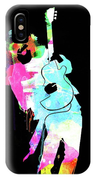 Print iPhone Case - Slash Watercolor II by Naxart Studio