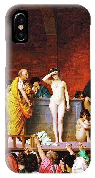 Accident iPhone Case - Slave Market In Ancient Rome - Digital Remastered Edition by Jean-Leon Gerome