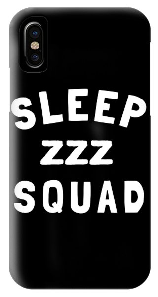 Pajama iPhone X Case - Sleep Squad  by Flippin Sweet Gear