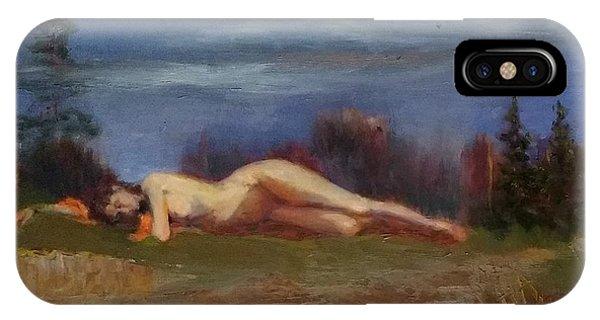 Sleeping Maiden II Phone Case by Irena Jablonski