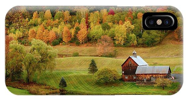 Sleepy Hollow Barn In Autumn IPhone Case