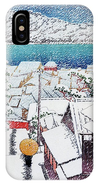 Umbrella Pine iPhone Case - Slope At Senko Temple, Onomichi, The Series Selection Of Scenes Of Japan by Kawase Hasui