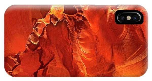 Slot Canyon Formations In Upper Antelope Canyon Arizona IPhone Case
