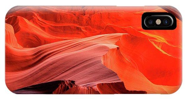 Slot Canyon Waves 1 IPhone Case