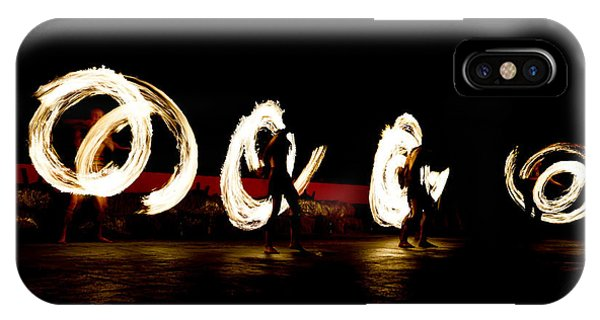 Long Exposure iPhone Case - Slow Shutter Speed Of Fire Show by The Sun Photo