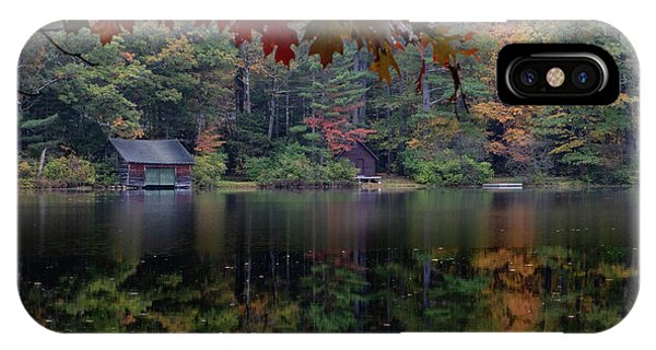 Small Pond New Hampshire Autumn IPhone Case