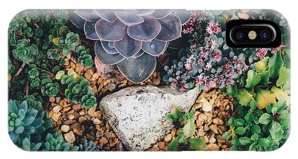 Small Succulent Garden IPhone Case