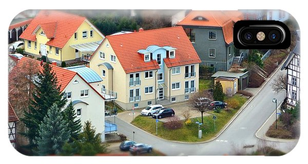 Rooftops iPhone Case - Small Town From A Birds Perspective by Bildagentur Zoonar Gmbh