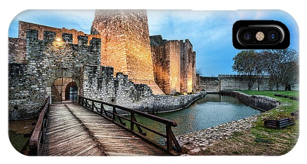 IPhone Case featuring the photograph Smederevo Fortress Gate And Bridge by Milan Ljubisavljevic