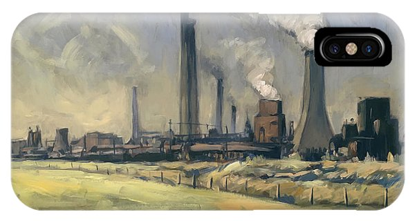 Smoke Stacks Prins Maurits Mine IPhone Case