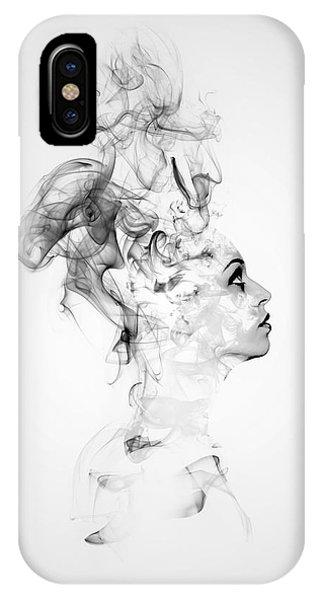 Smoke Fantasy iPhone Case - Smoke Woman by ArtMarketJapan
