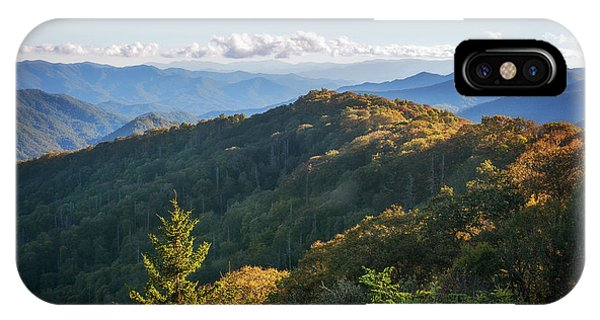 IPhone Case featuring the photograph Smoky Mountains by Sharon Seaward