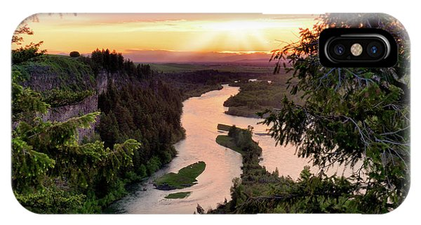 Snake River Sunset IPhone Case