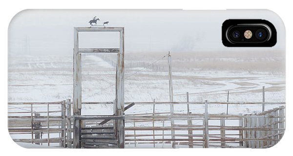 IPhone Case featuring the photograph Snow And Corral 01 by Rob Graham