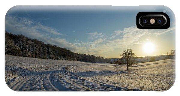 Snow And Sunset IPhone Case
