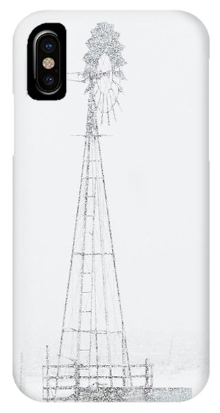 IPhone Case featuring the photograph Snow And Windmill 04 by Rob Graham