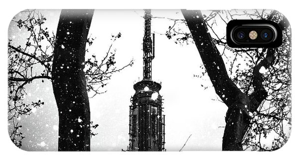 Empire State Building iPhone Case - Snow Collection Set 07 by Az Jackson