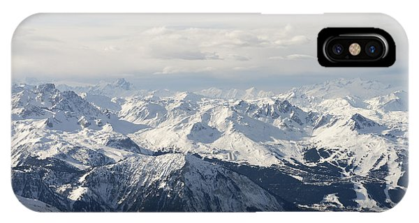 White Mountains iPhone Case - Snow Covered Alps Mountains Aerial View by Ivan Aleshin