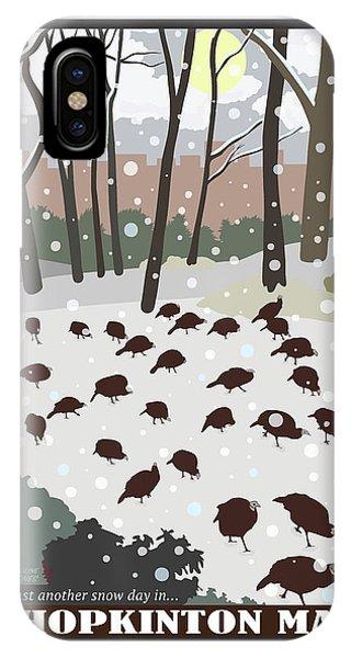 Snow Day In Hopkinton IPhone Case