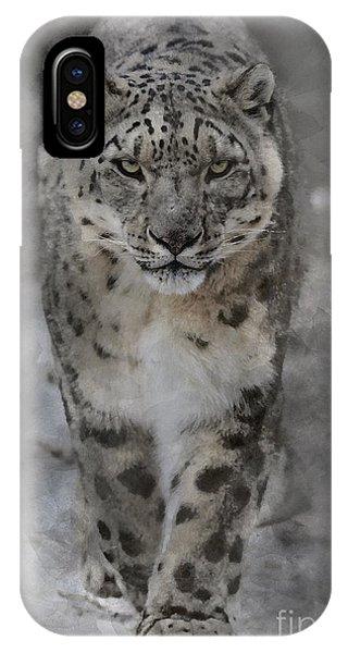 IPhone Case featuring the photograph Snow Leopard II by Brad Allen Fine Art