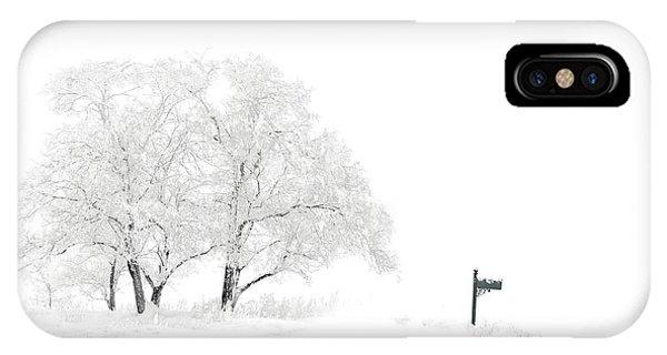 Purple Rain iPhone Case - Snow Scene by Tim Palmer