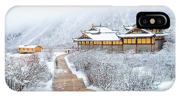 Winter iPhone Case - Snow Season In China by Phraisohn Siripool