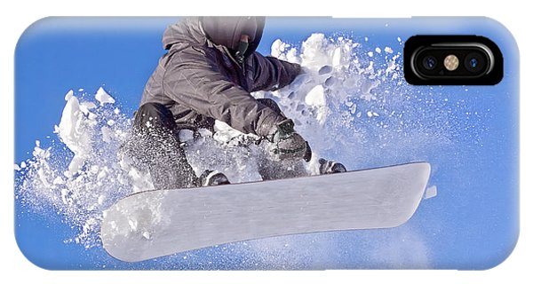 Reach iPhone Case - Snowboarder by Picmy
