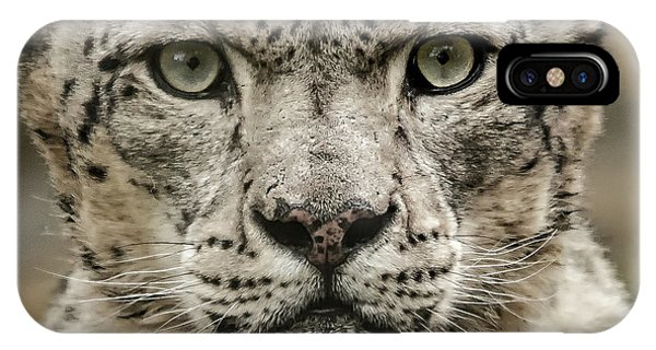 Snowleopardfacial IPhone Case