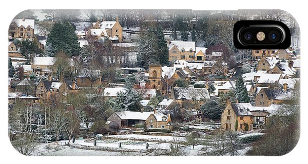English Village iPhone Case - Snowshill In Winter by Tim Gainey