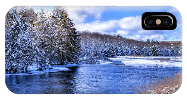 iPhone Case - Snowy Banks Of The Moose River by David Patterson