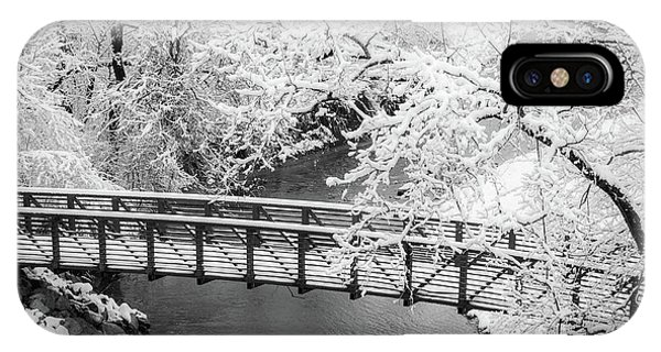 Snowy Bridge On Mill Creek IPhone Case