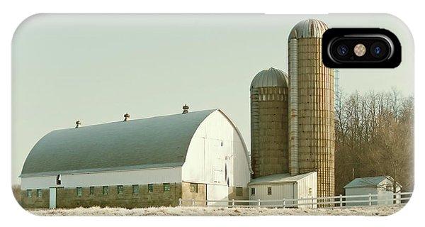 Silo iPhone Case - Snowy Farm by Todd Klassy