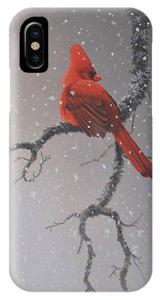 Snowy Perch IPhone Case